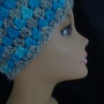 Crochet Ear Warmer/ headband made with my handspun hand dyed yarn