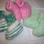 angora baby booties