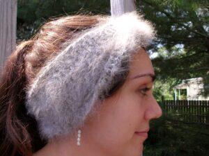 angora ear warmers