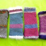 Crochet  angora Fingerless Mittens