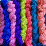 Hand dyed 100% angora yarn made to order