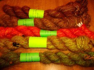 Handspun handdyed 100% angora yarn