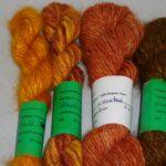 Hand dyed 100% angora yarns from www.angoraonline.com