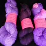 Handdyed 10% Cashmere sock yarn from angoraonline.com