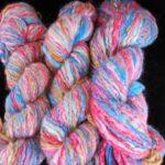 Handspun hand dyed 50% angora/ 35% merino/10% Alpaca/ 5% silk