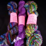 Handspun hand dyed art yarn