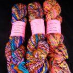 Handspun BFL/ merino/ silk yarn