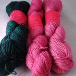 Rainbow kettle yarn, hand dyed  SW M.C.N. sock yarn at www.angoraonline.com