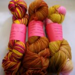 Rainbow kettle yarn, hand dyed MCN sock yarn, at www.angoraonline. com