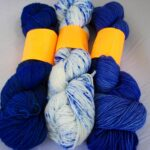 Hand dyed tonal sock yarn 80/20 merino/nylon yarn