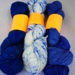 Hand dyed tonal sock yarn 80/20 merino/nylon yarn