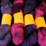 hand dyed 80/20 merino/nylon yarn, 400 yd, 100g, fingering