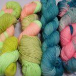 Hand dyed 80/20 Merino/ Nylon, 400 yd. 100g, www.angoraonline.com