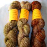 Hand dyed 80/20 Merino nylon sock yarn, 400 yd, fingering yarn