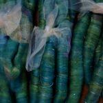 Rolag- Puni Merino/ Angora Spinning Fiber, felting fiber