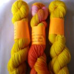 Hand dyed speckled 80/20 merino nylon yarn, 400 yd, fingering weight