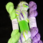 Handspun  hand dyed 100% angora yarn from  www.angoraonline.com