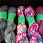 Hand dyed 30% angora sock yarn, 400 yd. @ angoraonline.com