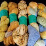 Handdyed 30% angora sock yarn, 400 yd.  www.angoraonline.com