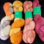 handdyed 30% angora/ 60% merino/ 10% nylon sock yarn www.angoraonline.com