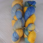 Handdyed alpaca wool silk yarn, 252 yd, single ply, worsted www.angoraonline.com