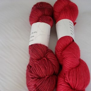 Hand dyed alpaca yarn 252 yd