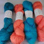 Hand dyed alpaca/ wool/silk yarn , worsted 252 yd. www.angoraonline.com