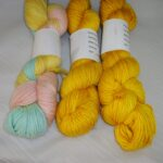 Hand dyed 40% baby alpaca, 40% wool and 20% silk www.angoraonline.com
