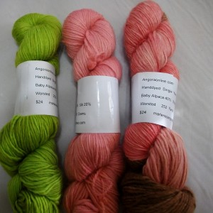 hand dyed alpaca wool silk yarn worsted