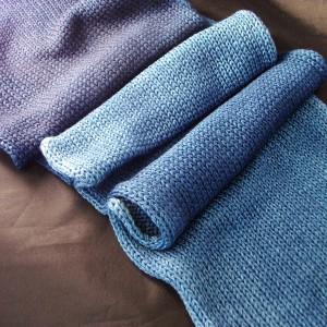 Hand dyed yarn, sock blank from Rainbow Kettle Yarns