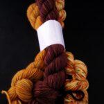 Hand dyed color coordinated yarn bundles Hand dyed  85% Polwarth wool/ 15% silk Yarn, DK, 300Yd