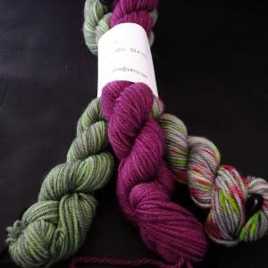 Hand dyed Polwarth wool/ silk yarn