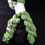Hand dyed color coordinated yarn bundles Hand dyed  85% Polwarth wool/ 15% silk Yarn, DK, 300Yd