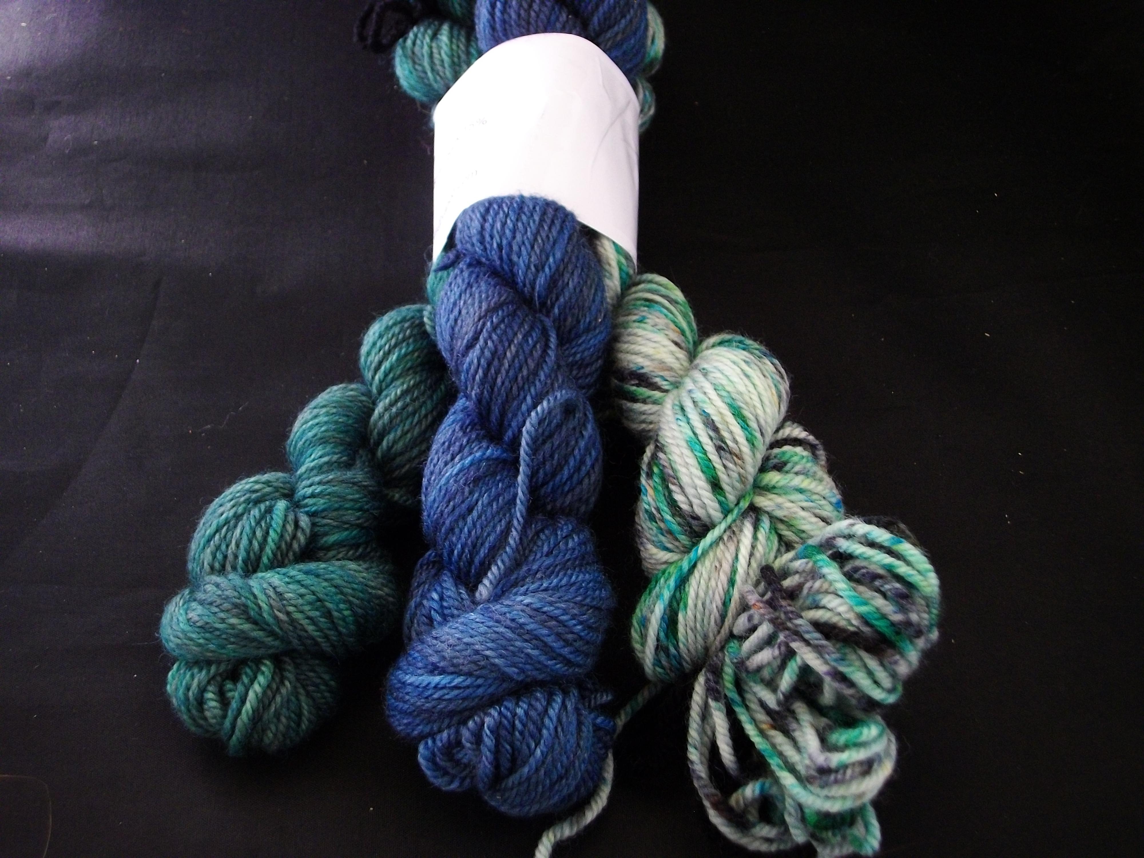 Hand Dyed 85/ 15 Polwarth wool/ Silk Yarn – 300 yd bundles ...