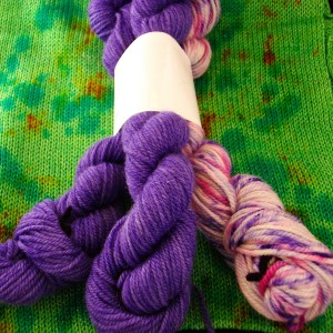 Handdyed Polwarth wool/ silk Yarn