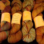 Hand dyed tonal sock yarn hand dyed 80/20 merino/nylon yarn, 400