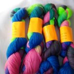 hand dyed 80/20 merino/nylon sock yarn by Rainbow Kettle Yarns