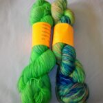 Hand dyed sock yarn, 80/20 merino/ nylon yarn, 400 yd