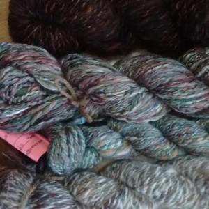 angoraonline.com handspun hand dyed angora/ merino yarn