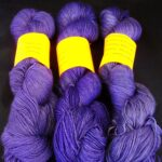 OOAK Hand dyed 80/20 merino nylon sock yarn, periwinkle blue 400 yd. fingering wt.