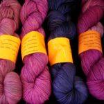 OOAK Hand dyed 80/20 merino nylon sock yarn, 400 yd. fingering wt.