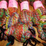 Handspun hand dyed merino/ llama yarn, worsted wt. , 2-ply, 100 yd.