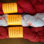 Hand dyed Merino Nylon Yarn, 400 yds fingering wt.