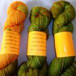 Hand dyed 80/20 Merino/ Nylon Yarn, Rainbow Kettle hand dyed yarn