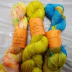 Handdyed sparkle sock yarn, 435 yd, fingering weight
