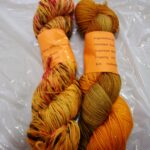 Hand dyed sparkle sock yarn, 435 yd, fingering weight