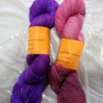 Handdyed sparkle sock yarn, 435 yd, fingering weight @ angoraonline.com