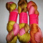 Hand dyed M.C.N. Sock Yarn, 435 yd, fingering wt.