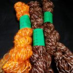 Handspun angora yarn in thick n thin yarn