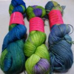Hand dyed MCN fingering yarn, at www.angoraonline.com